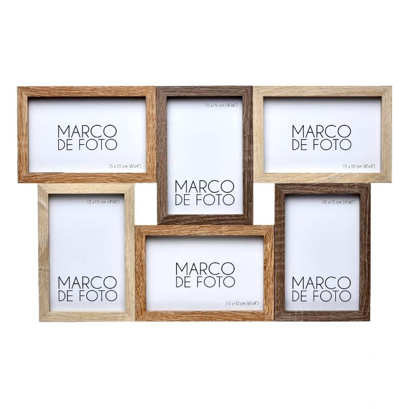 Mica - Marco de Foto Mdf 6 Fotos