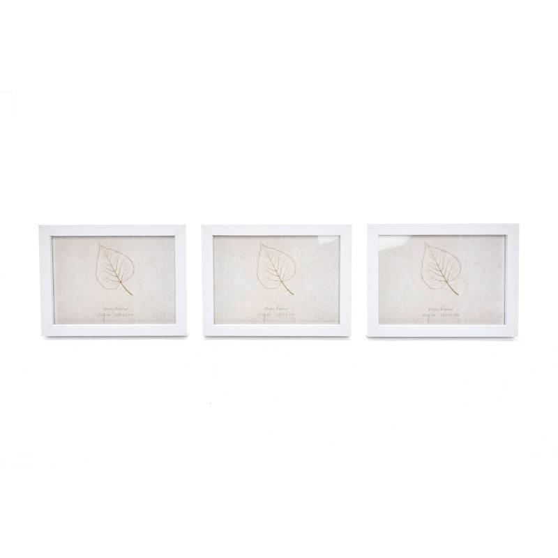 Mica - Portaretrato Set x3 Blanco 13X18 cm