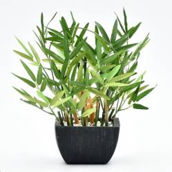 Mica - Maceta Bamboo en florero Negro 35 cm