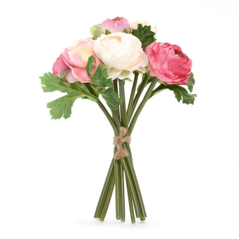 Mica - Bouquet Ranun Rosa/Blanco