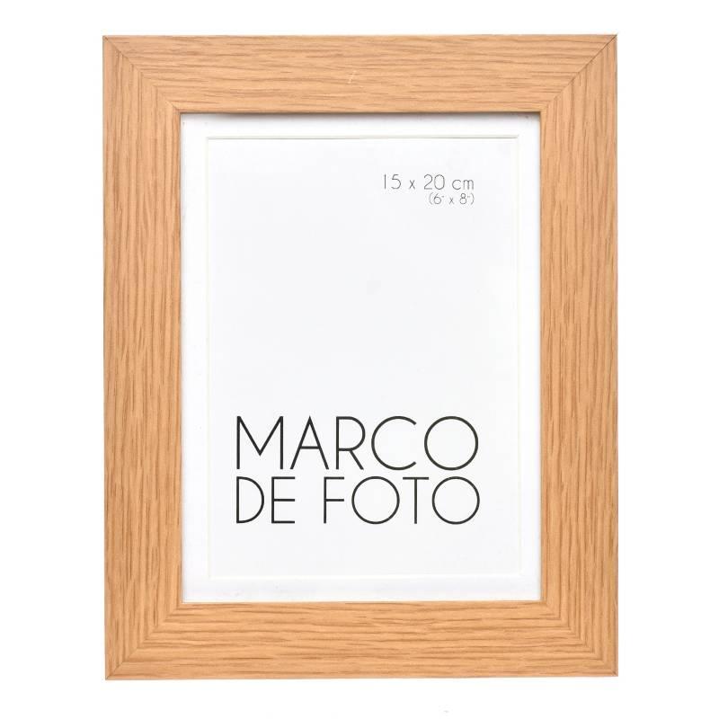 Mica - Marco de Foto Plano +  Borde Natural 13X18 cm