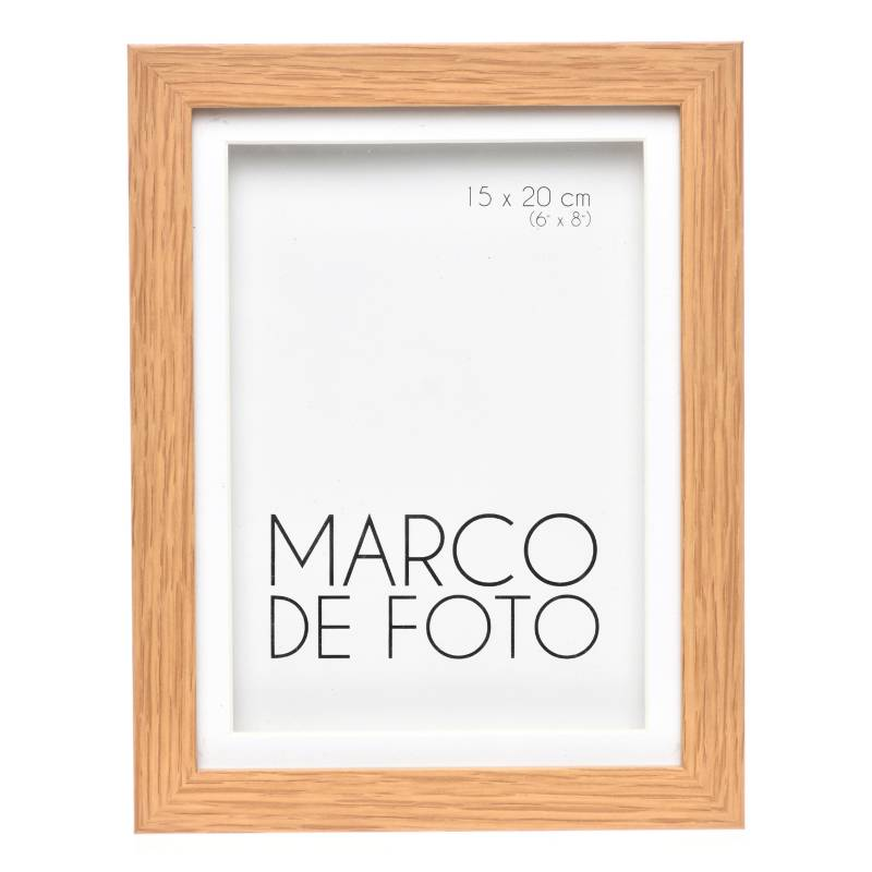 Mica - Marco de Foto Cajón + Paspartú Nat 13 x 18 cm
