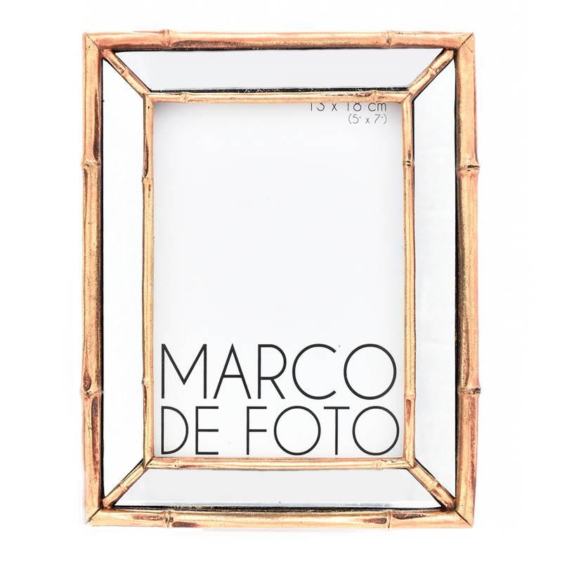 Mica - Marco Foto Madera Espejo 13 x 15 cm