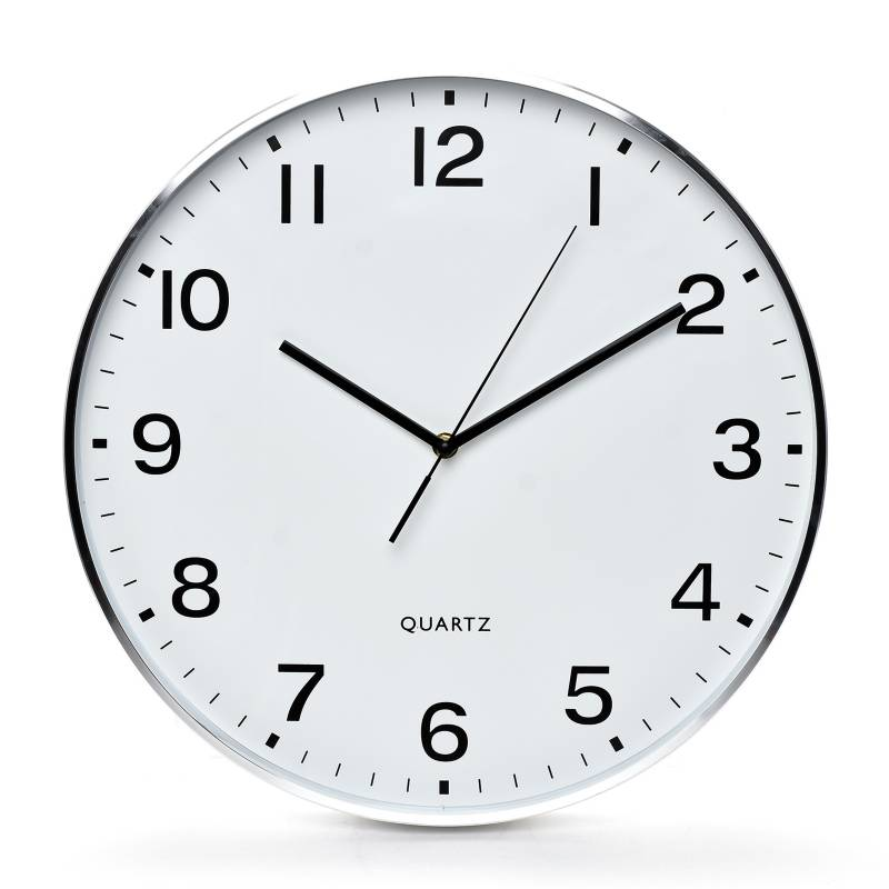Mica - Reloj Alum 40 cm Plata