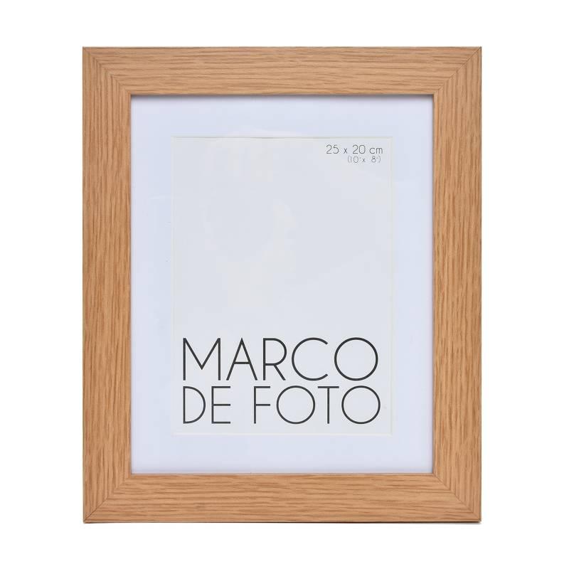 Mica - Marco de Foto Plano + Paspartú Natural 15 x 20 cm
