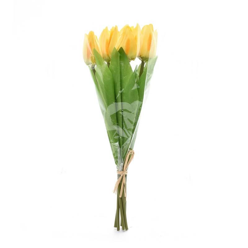 Mica - Ramo Tulipan 32 cm Amarillo
