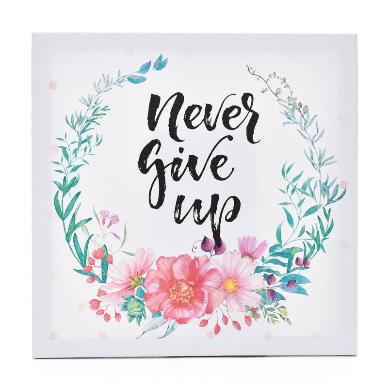 Mica -  Cuadro Canva Never Give Up