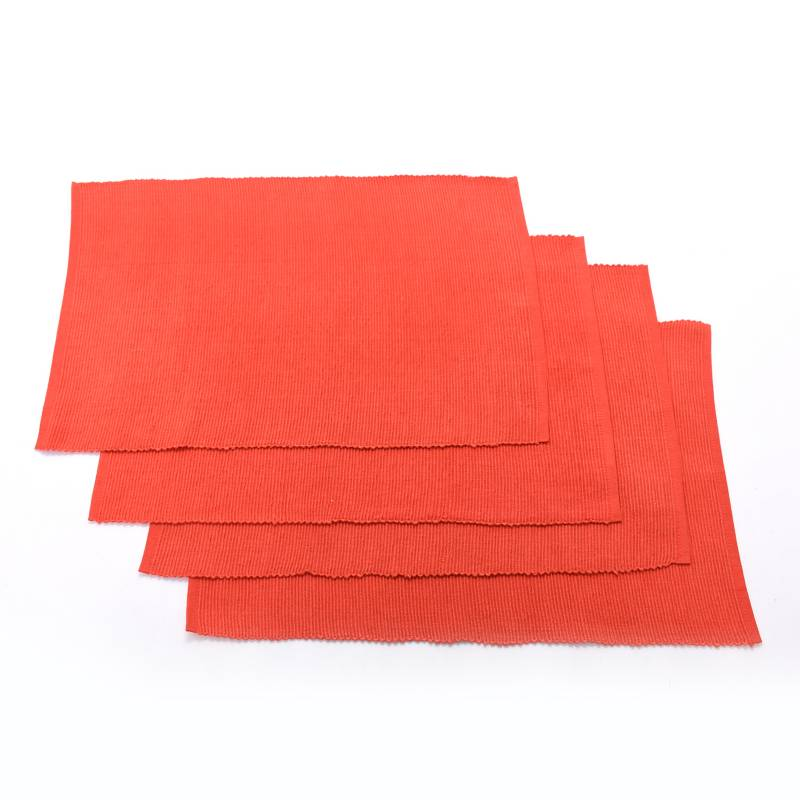 Mica - Set x4 Individuales Basic Rib Rojo