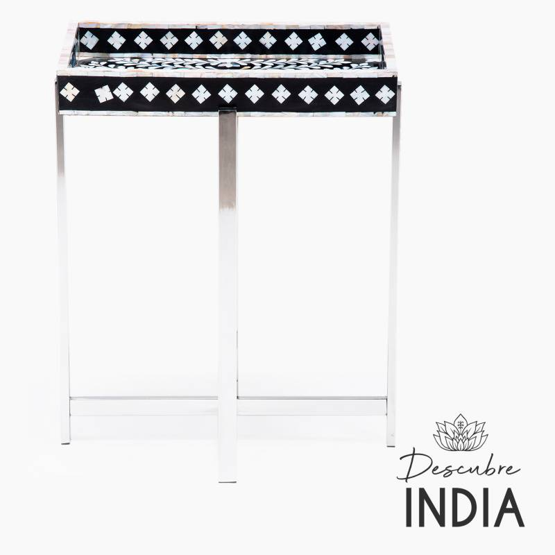 Mica - Mesa con Bandeja Perla Negra