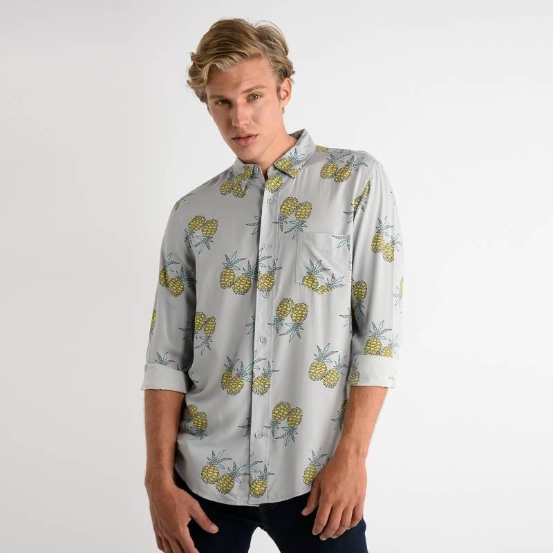 Bearcliff - Camisa Casual Hombre Manga Larga Bearcliff