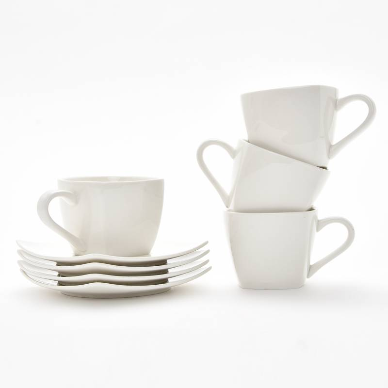Basement Home - Set 4 Tazas Té Cuadrada Essential