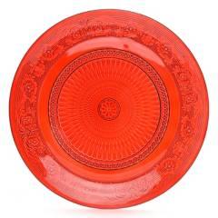 Roberta Allen - Plato Base Rojo 29 cm Vidrio