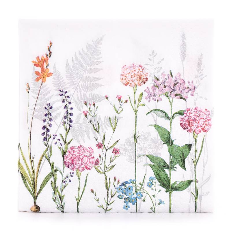 Mica - Servilleta Flores Blanca