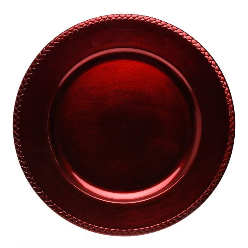 Mica - Base Plato Rojo 33 cm
