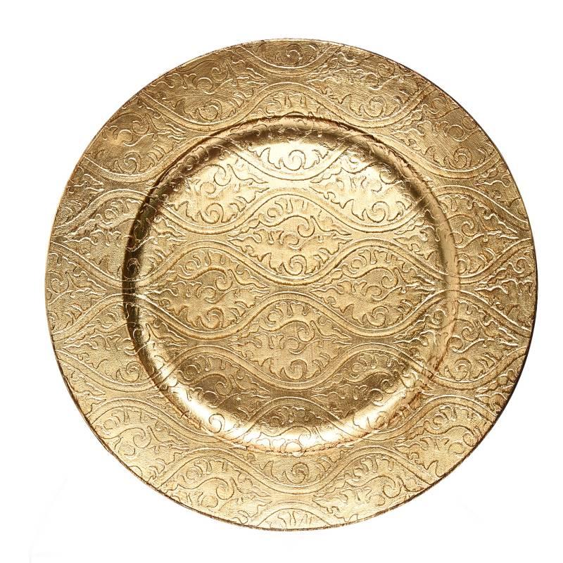 Mica - Base Plato Gold/Br 33 cm