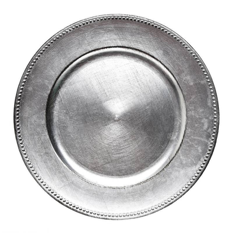 Mica - Base Plato Silver/Blanco 33 cm