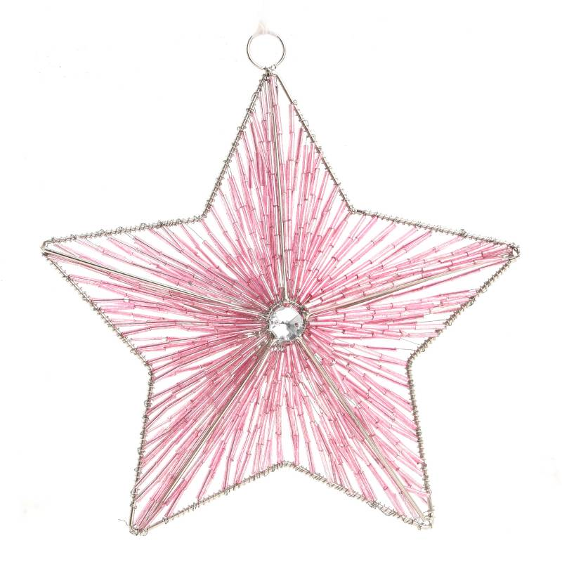 Mica - Ball India Glass Pink 5 cm
