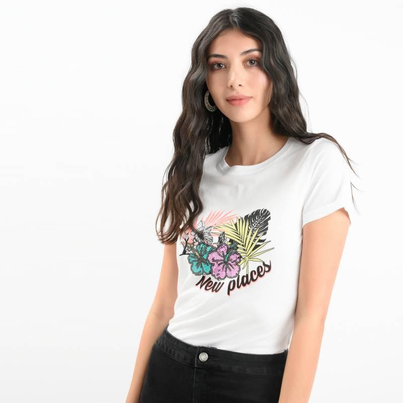 Sybilla - Camiseta Mujer Manga Corta Sybilla