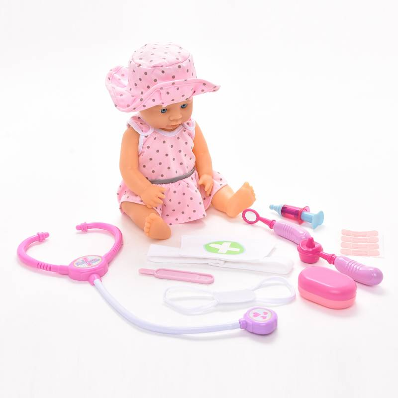 Peek a Boo - Muneca 40 cm Set Doctor