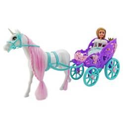 Sparkle Girlz - Carruaje con Muñeca y Unicornio