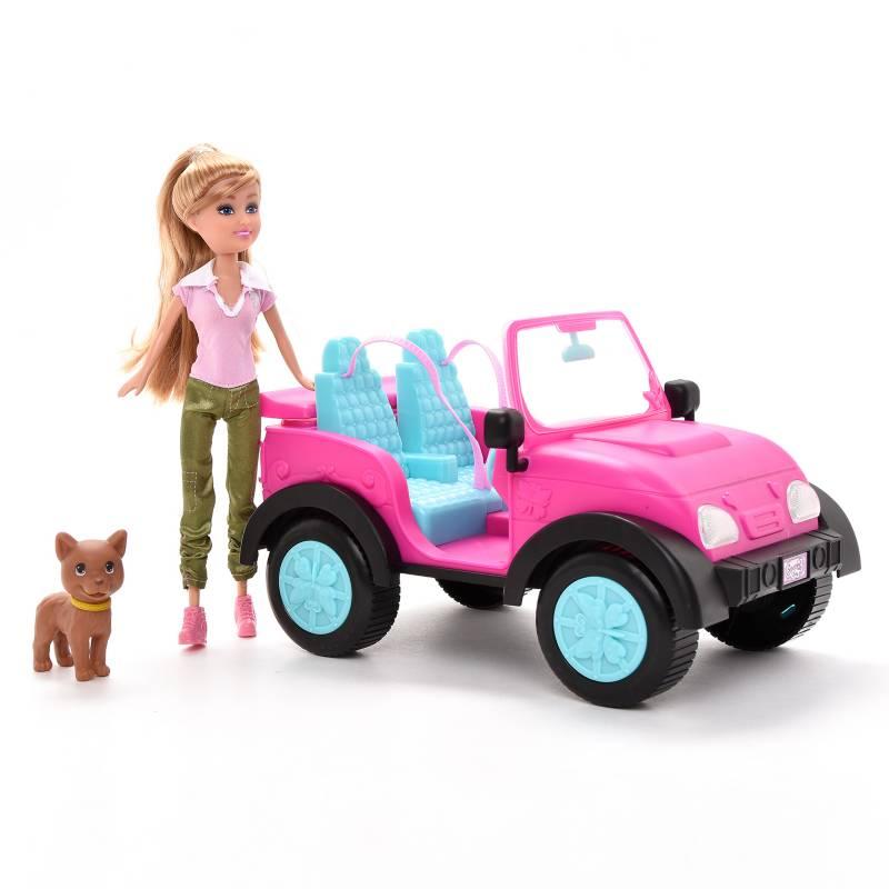 Sparkle Girlz - Jeep con Muñeca y Mascota