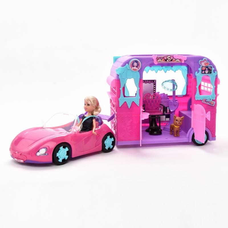 Sparkle Girlz - Muñeca con Auto y Trailler