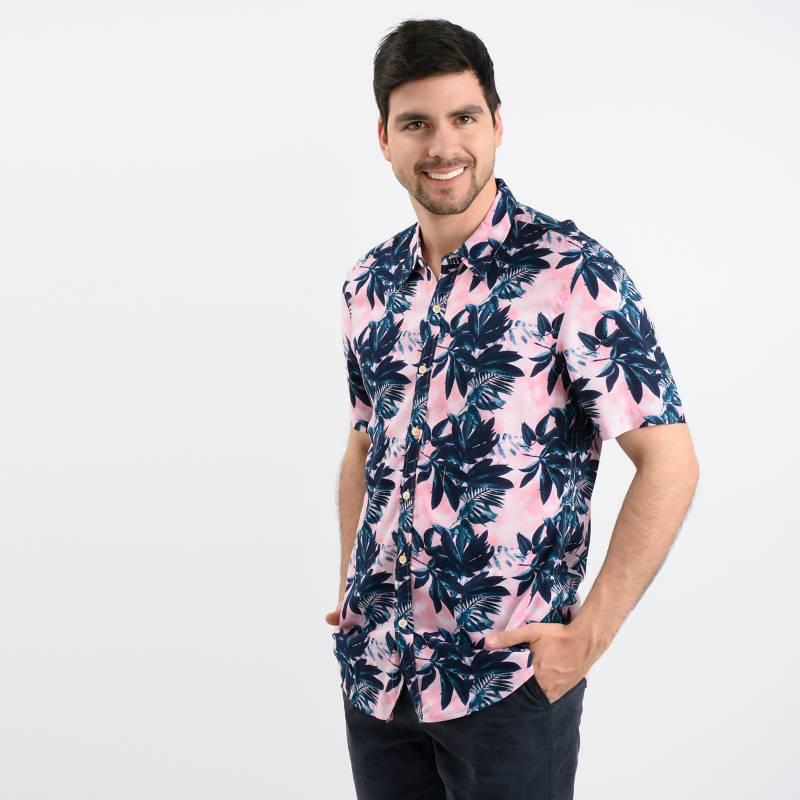 Basement - Camisa Casual Hombre Manga Corta Basement