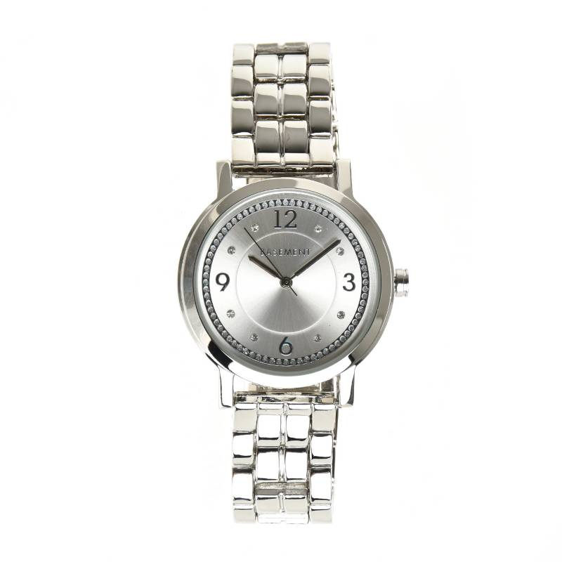 Basement - Reloj metal Gris