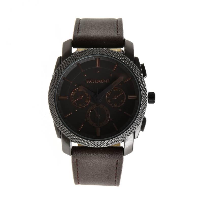 Basement - Reloj cuero Café