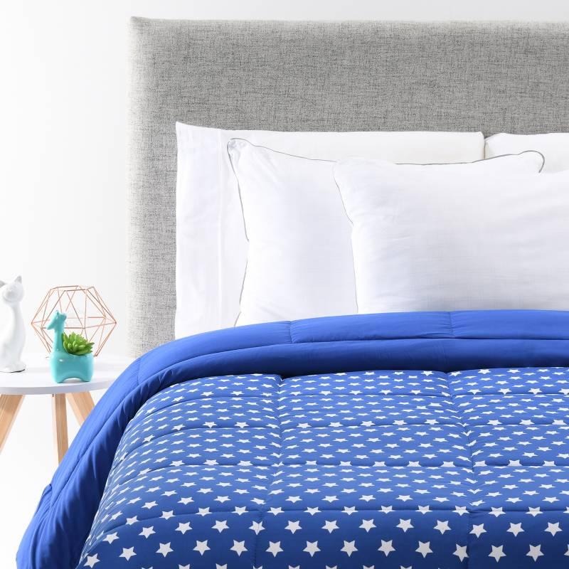 Mica Kids - Cubrelecho Infantil Poliéster Estocolmo Estrella Azul