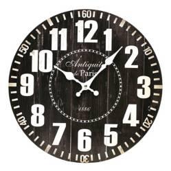 Reloj Negro Mdf 33 cm