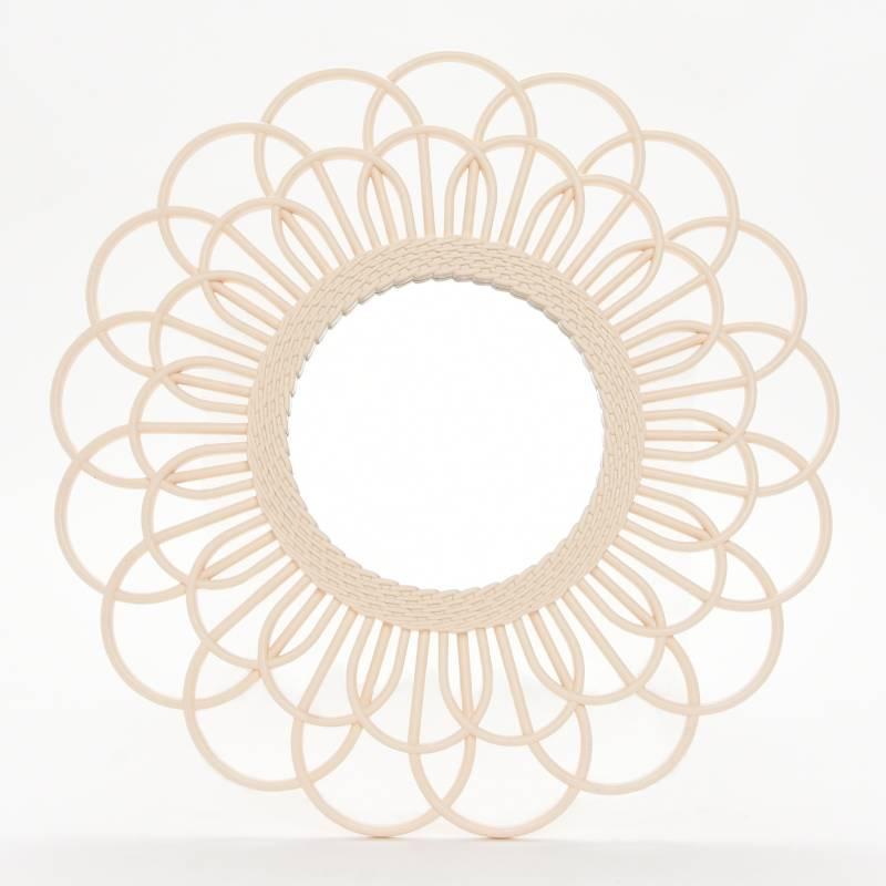 Mica - Espejo Crema Flor 50 cm