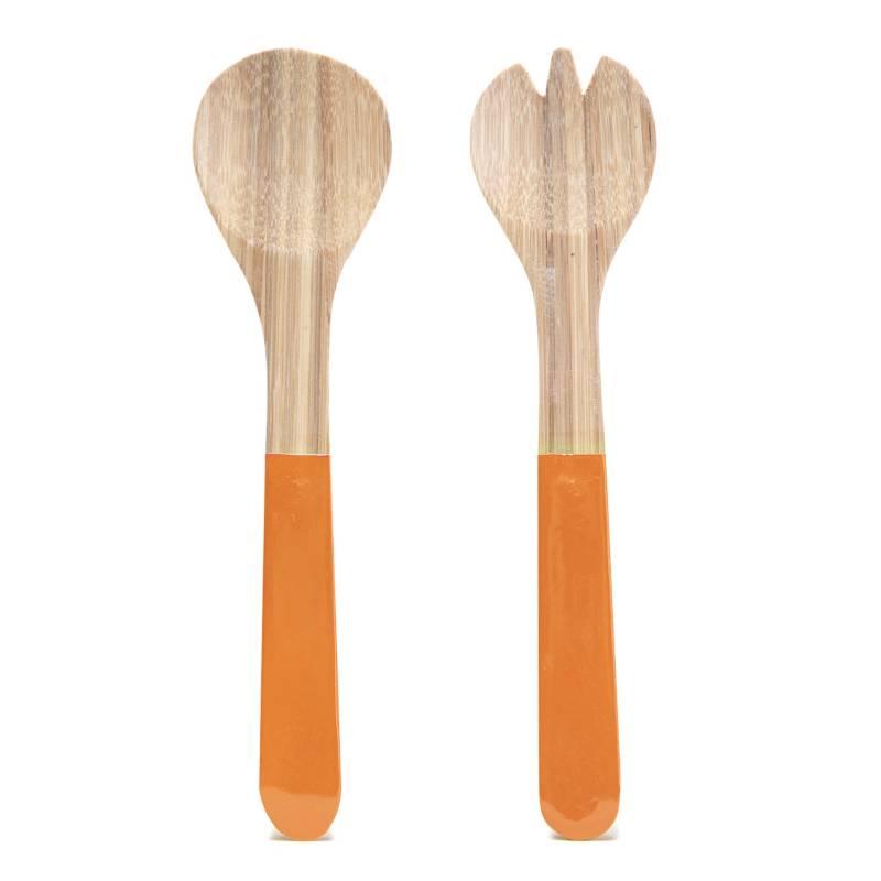 Mica - Set x2 Piezas de Servir Bambú Naranja