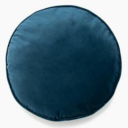 Roberta Allen - Cojín Velvet Azul Oscuro