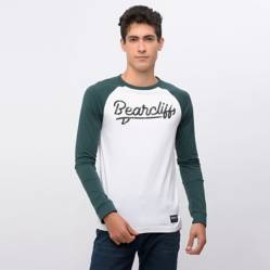 Bearcliff - Camiseta Hombre Manga Larga Bearcliff