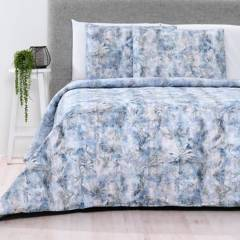 Basement Home - Funda de Duvet Algodón Blue Jungle