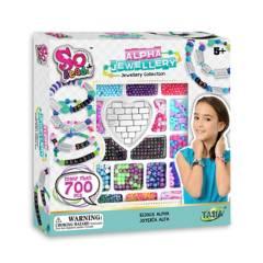 So Beads - Set de Pulseras y Mostacillas Plata