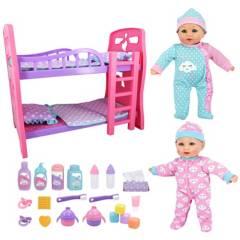 Little Darlings - Muñecas Dos Bebés Camarote y Accesorios