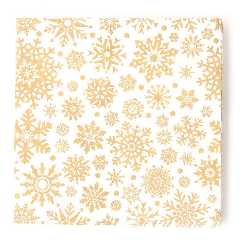 Mica - Servilletas Christmas Gold 33 x 33 cm