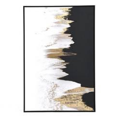 Basement Home - Cuadro Canvas Abstracto Negro y Blanco