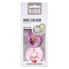 BIBS - Pack x2 Chupos Lavender y Babu Pink 0-6 meses