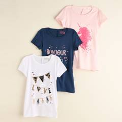 Yamp - Camiseta Niña Paxk x3 Yamp