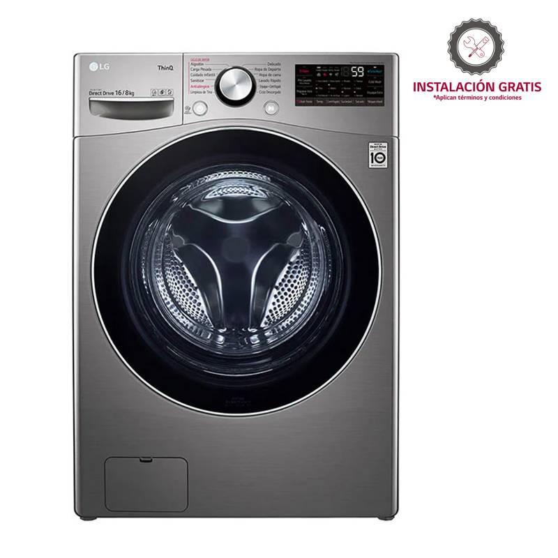 LG - Lavadora Secadora LG Eléctrica 16 kg WD16EG2S6AESECO