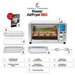 Tv Novedades - Freidora power airfryer oven 360 emeril
