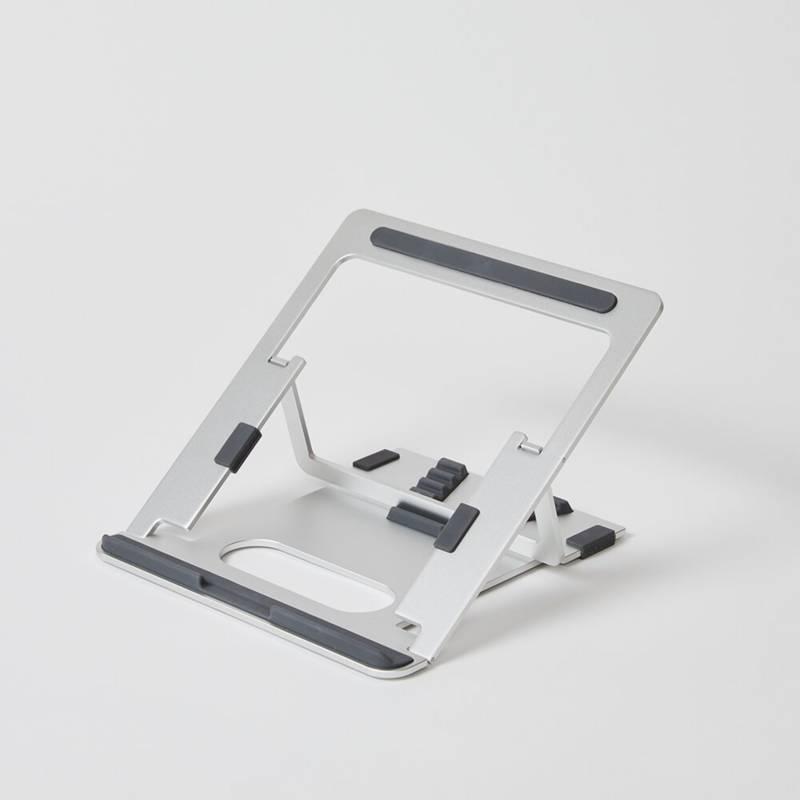 POUT - Mesa en aluminio para portátil - Plateado
