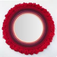 Pomplon - espejo mechas rojo