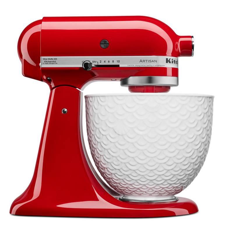 KitchenAid - Batidora KitchenAid Artisan Rojo 4.7 LT Tazón Cerámica