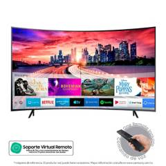 Samsung - Televisor Samsung 55 pulgadas Curvo LED 4K Ultra HD Smart TV