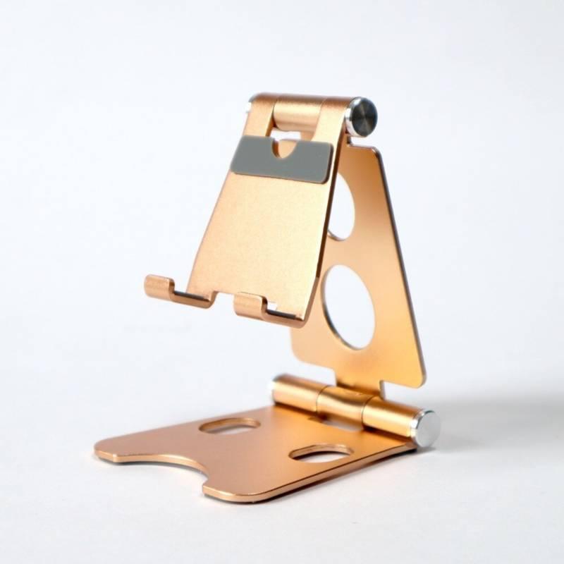 VZ - Soporte para celular y tablet en aluminio - dorado
