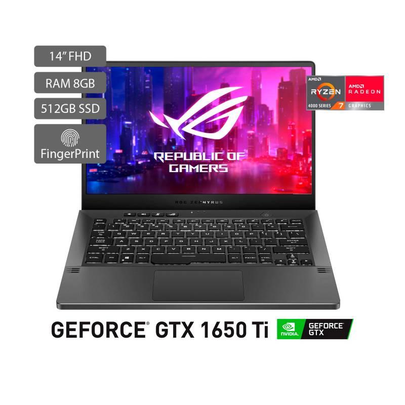 Asus - PC Gamer Asus ROG Zephyrus G14 14 pulgadas AMD RYZEN R7 8GB 512GB